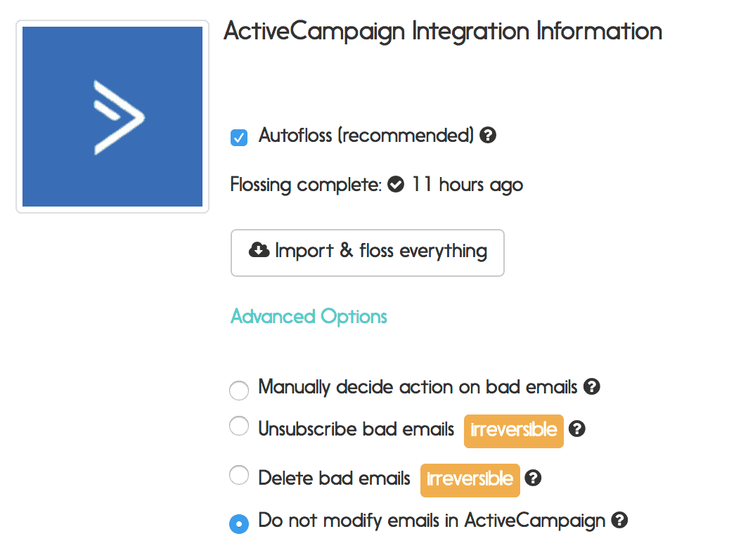 activecampaign email verification options