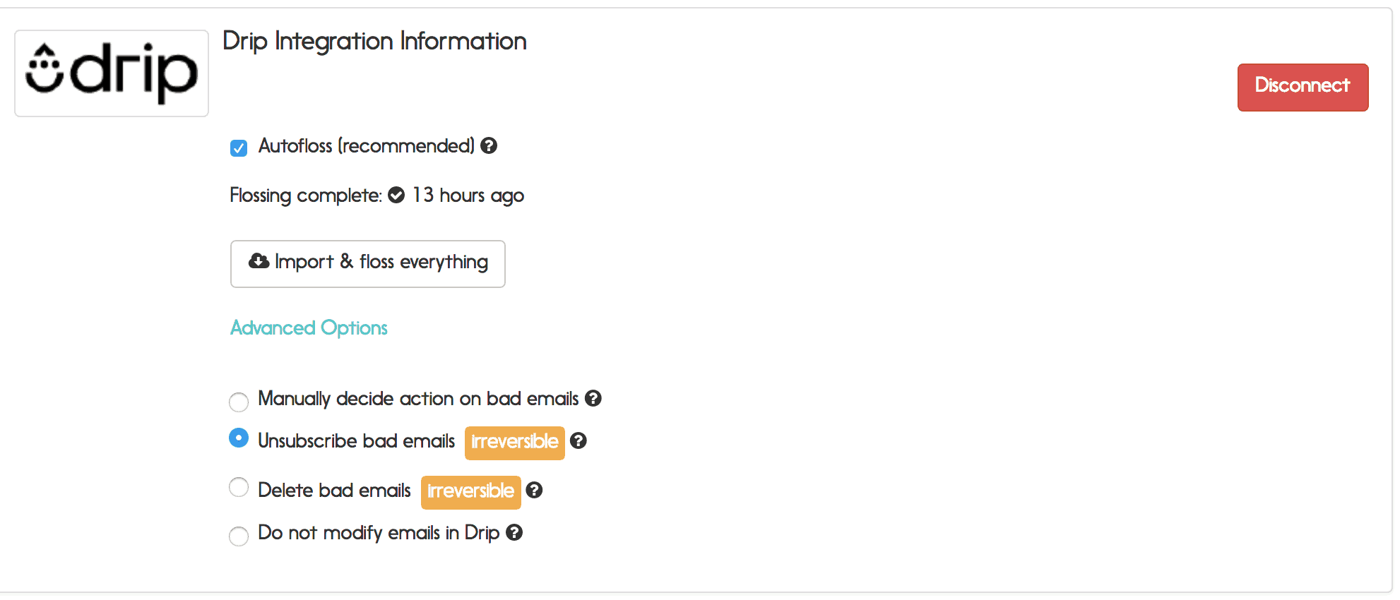 drip email verification options